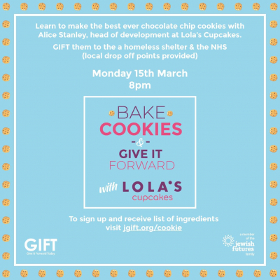 Bake cookies and Give It Forward