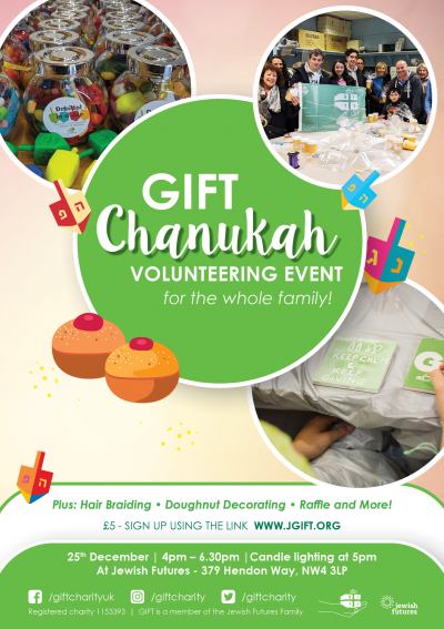 GIFT Chanukah volunteering event for the whole family