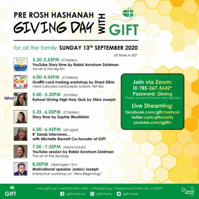 Pre Rosh Hasonah Giving Day with GIFT