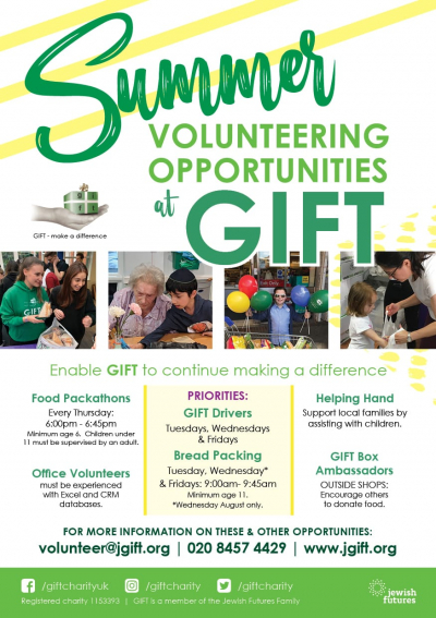 Summer Volunteering Opportunities at GIFT