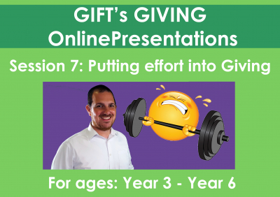 Putting effort into Giving (Duration - 11 minutes)