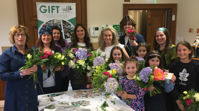 Communities donated fruit, cheese cake and flowers to brighten up the Festival of Shavuot for GIFT's families
