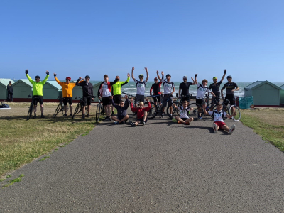 Teenagers Cycle from London to Brighton Beach for GIFT