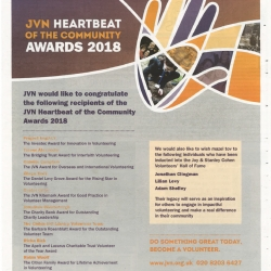 JVN Hearbeat of the Community Awards 2018