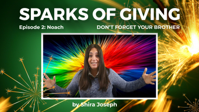 Sparks of Giving No. 2 Noach: Don't forget your brother